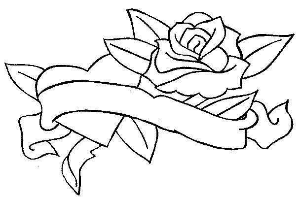 Coloriages roses - Coloriage rose ...