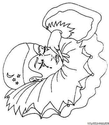 Coloriage harlequin - Dessin de pierrot ...