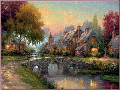 Peinture paysages - Paysage peinture facile ...